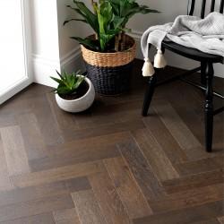 Herringbone Engineered Wood Flooring Goodrich Espresso Oak - Woodpecker Flooring