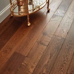 Engineered Wood Flooring Chepstow Distressed Charcoal Oak - Woodpecker Flooring
