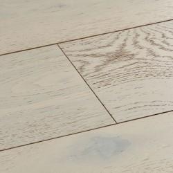 White Engineered Wood Flooring Salcombe Chalked Oak image