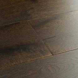 Dark Engineered Wood Flooring Chepstow Planed Cocoa Oak image