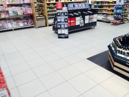 The Cream Terrazo is another excellent example of a tile that has been used on large scale projects such as shopping centers and supermarkets.  
