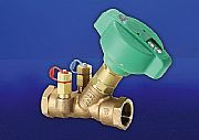 Bronze Fixed Orifice Double Reg Valve. Provides precise and accurate flow regulation. Easy to operate with hand wheel and numerical indicator Integral orifice and test points- no need for separate DRV and metering station....