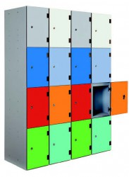 Overlay doors entirely cover locker body. Probe offer their high quality steel lockers now with 10mm solid grade laminate overlay doors. Height 1780mm....