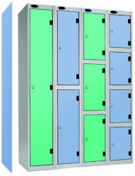 Inset doors fit flush with face of locker body. Probe offer their high quality steel lockers now with 10mm solid grade laminate inset doors. Height 1780mm....