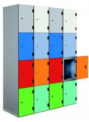 Shockproof Low Lockers - Overlay Doors image