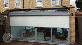 Effectively regulate solar heat, light (glare) and UV (ultraviolet) with our external roller blinds, mounted outside and running down directly in front of windows and sliding folding / bi-fold doors of all sizes to provide a comfortable, healthy indoor space f...