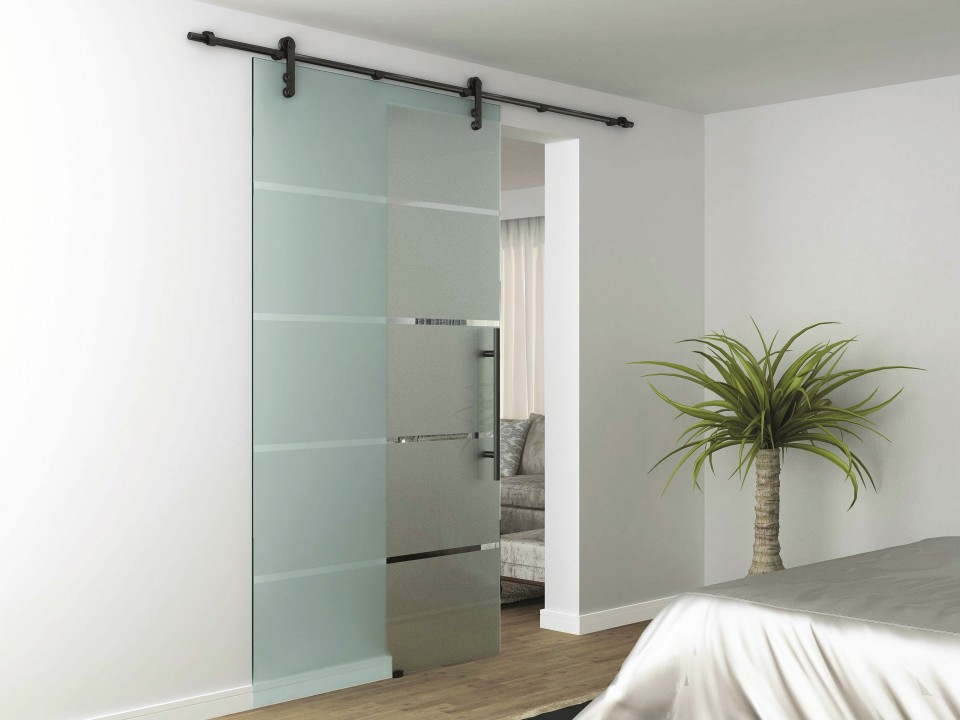 Rustic Glass Barn Door Style Sliding System By Lord Lionel
