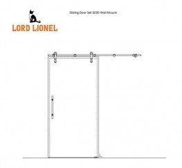 Rustic Glass Barn Door Style Sliding System - Lord Lionel