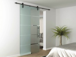 This design of sliding door has been popular in the USA for a number of years, they often have metal wheels running on a metal track, the Rustic uses modern polymer wheels in its trolley hangers resulting in a smoother and quieter sliding action. The Rustic is...
