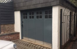 Classic Sliding Garage Door System to pull doors around the corner image