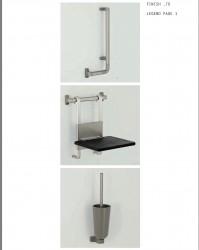 PBA PROGRAMMA 400-ALU Suspended Shower Seat image