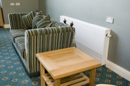 The classic low surface temperature radiator, the horizontal lines of the Cocoon's front panel have become the standard design for all lesser imitations of this safe but powerful radiator. Ideal for all situations where vulnerable people may be present, from n...