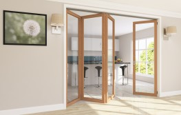 Roomflex - Folding Door Hardware with No Bottom Channel image