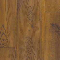Solid Wood Flooring- Golden Oak Hand Distressed Flooring TF07 image