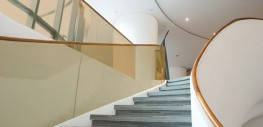 LamiGlass bronze uses a coloured interlayer rather than a clear interlayer to bond 2 or more pieces of glass....