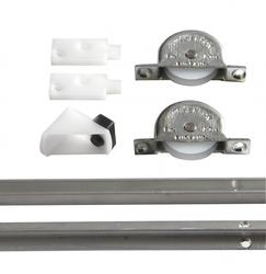 Bottom rolling horizontal sliding window gear. Each complete set comprises of the following: * 2 x Bottom Rollers * 2 x Guides * 1 x Length of Top Track * 1 x Length of Bottom Track...