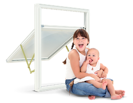 Well balanced ironmongery makes sure the frame can easily be turned 180 degrees for safe cleaning from inside. Solid cleaning restrictors are also integrated for additional safety. The window has a sophisticated and effective child safety restrictor integrated...
