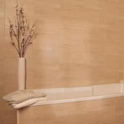 The Sandstone Standard panel has a matt finish which contributes to its realistic stone like appearance, it offers the opportunity to be creative with its irregular offset tile effect.   This is an 8mm thick Swish Marbrex tile effect panel. Each panel measu...