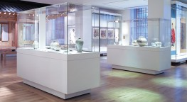 Vista cases allow total visibility of exhibits whilst providing protection and simple access solutions. An elegant all-glass vitrine with a glass top is attached to a metal base frame which conceals opening mechanisms and locking systems....
