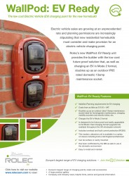 Rolec WallPod: EV Ready. A low cost Electric Vehicle (EV) charging point option for the new homebuild image
