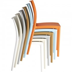 Ikon - Dining chair, one piece polypropylene, stackable image