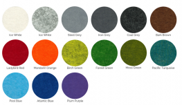 Muffle Colours acoustic panel solution for walls or ceilings, available in 16 colours image