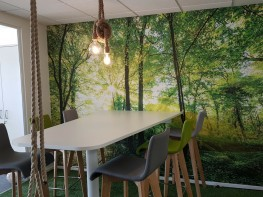 Muffle Mural - bespoke printed acoustic solution | two-in-one, stunning mural or wall pattern at the same time as acoustic improvement image