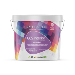 GCS Interior Premium is a natural mineral - Lime, Silicate & Graphene - VOC free, interior paint, available in a wide range of colours. It is ideal for construction, restoration and repainting. GCS Interior Premium is certified 'Cradle to Cradle' Silver by the...