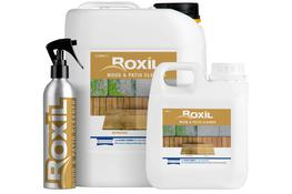 Roxil Wood & Patio Cleaner is a liquid-based cleaner for exterior surfaces such as decking, fencing, sheds, patios and paved surfaces. It is an effective non-destructive alternative to acid-cleaning or pressure washing for any exterior surface.  Soft Washing for Long Life Roxil Wood & Patio Cleaner helps to prevent surface erosion The ready-to-use cleaning formula of Roxil Wood & Patio Cleaner will remove mould, algae and dirt without causing any damage to the surface of the material that it is applied to.  This non-destructive cleaning method is an ideal alternative to pressure washing and acidic cleaning on both patios/paved surfaces and wooden structures. Long term use of either pressure washer or acidic cleaners can cause significant damage to both patios and wooden structures.  Compatible with Entire Roxil Range Roxil Wood & Patio Cleaner is compatible with the entire Roxil range Roxil Wood & Patio Cleaner has been formulated specifically to be effective on both patios / paved surfaces and wooden structures, including those that have been treated with Roxil Patio Cream, Roxil Wood Protection Cream or Roxil Wood Preserver.