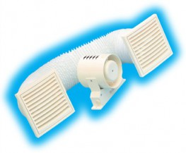 Supply and install a Vectaire SFK10/4T shower fan kit for toilets/bathroom/shower-rooms supplied by Vectaire Ltd, Lincoln Road, Cressex Business Park, High Wycombe, Bucks, HP12 3RH. The kit should be complete with a 3m length of PVC ducting and grille for the ...