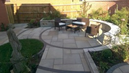 Our Sawn Paving is perfect for using in contemporary landscape designs with its smooth surface and sharp lines. We can supply it in 2 formats:  Sawn on 6 sides with a sandblasted (textured) surface. Or with a Honed surface (polished with a low sheen finish...