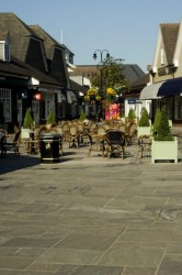 Stoneworld Paving at Bicester village