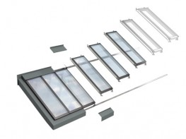 VELUX wall-mounted longlight 5-45° image