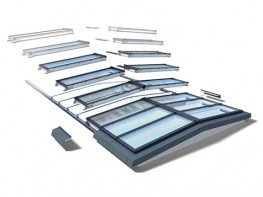 VELUX Modular Skylights Ridgelight with beam 5° image
