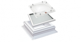 Modular Glass Rooflights Jet Cox Flat Roof Window with Dome image