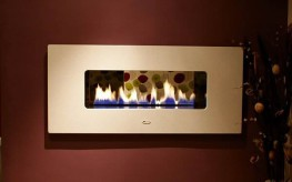 "The ""Double-Sided"" gas fire ribbon adds the ultimate WOW factor to any domestic or commercial property. Available in two sizes 1350mm and 970mm with a large selection of finishes. There are many options for see through or tunnel gas fires in our range please ask for further details."