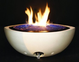 Using award winning design style and specialist gas burner technology we have created a range of gas fire bowls which are fabricated to a very high standard and with a unique flame quality unrivalled anywhere. Available in a choice of sizes and finishes there is a fire bowl within our range to complement any Contemporary or Traditional setting. Installation options are unlimited with over 72 variations of enclosure to choose from. Winner of the Price of Wales Design Award the Fire bowl features burner technology which creates a sparkling undulating sea of blue incandescence to gentle peaks of yellow flames.