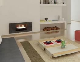Cast Slit Floating Flame Fireplace image