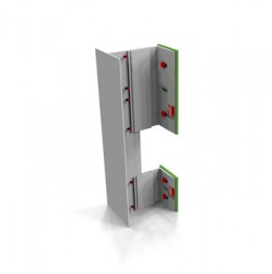 Suitable as a back frame system – NV1 is suitable for face fixing / rivet fixing cladding elements to e.g. fibre cement, high-pressure laminate (HPL), ACM and metal rainscreen panels. NV1 is the basis of all NVELOPE support systems. NV1 is the NVELOPE back f...
