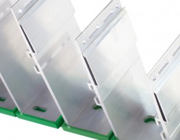 NVELOPE vertical cladding brackets come in standard dimensions of 40-300mm and in two sizes (single and double). A simple cladding support system typically consists of 'helping hand' brackets which are fixed to the substrate at set vertical and horizontal separations. There are vertical brackets (these will be used in the majority of cases) and horizontal brackets. Profiles are then fixed into brackets. NVELOPE cladding brackets are made of aluminium EN AW-6063 T6 (former designation AlMgSi 0,5 F25) and comply with BS EN 755 as well as the common regulations for ventilated façades in Europe.