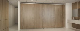Mondiale is a clean, flush faced cubicle design. Highlights of this model are the rebated doors and pilasters which strike an impressive vertical detail between each cubicle. The overlapping of these two panels reduces the evidence of any visual ironmongery wi...