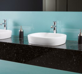 Our Granite washroom vanity unit range takes you into the rare and distinctive world of natural stone. The ideal solution for exclusive and prestigious environments, Granite is enhanced by a range of designer taps and basins. Available in seven beautiful finis...