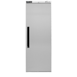Robust and inexpensive upright one door cabinet with front vented refrigeration system. Designed for noise sensitive areas - the perfect solution for the budget or space conscious....