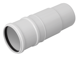 Ring seal socket/spigot, triple socket depth. (Soil system - Couplings 110 mm)....