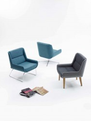 Hush low is the little brother of the hush chair originally designed to compliment the hush chair but now just as widely used in its own right. Hush low has the same slender internal frame providing a similar elegant shape and fixings for the slender leg optio...