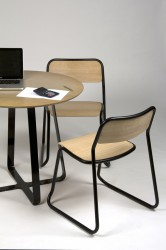 Called the bounce chair due to the independent movement of the seat and back, this flex provides a comfort not usually associated with steel and plywood chairs. Bounce also brings a level of sophistication to this type of product – a distinct lack of visible...