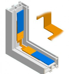 Flexible Corner Glazing Wedges image