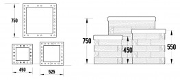 WoodBlocX Street Furniture Novar Planters - WoodBlocX
