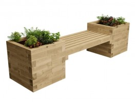 WoodBlocX Street Furniture Fyrish Planter Bench image