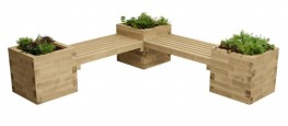 WoodBlocX Street Furniture Fyrish Planter Bench - WoodBlocX